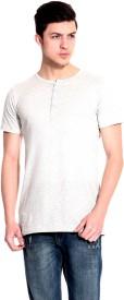 Lemon & Vodka Solid Men's Henley Grey T-Shirt