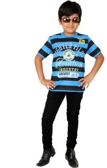 Giraffe Striped Boy's Round Neck T-Shirt - TSHEYQND9JR73HKT