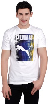 Compare Puma Round Neck Printed Men T-shirt: T-Shirt at Compare Hatke