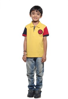 Stop To Start Stylish Solid Boy's Polo T-Shirt Solid Boy's Polo T-Shirt