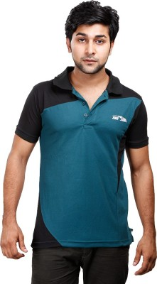 Zinc Solid Men's Polo Neck T-Shirt