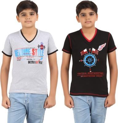 Graceful Printed Boy's V-neck T-Shirt