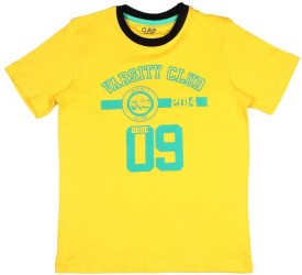 Ajile By Pantaloons Graphic Print Boy's Round Neck Yellow T-Shirt