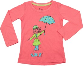 Max Printed Girl's Round Neck T-Shirt