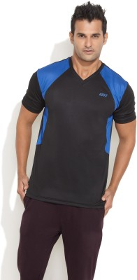 Edge Edge Solid Men's V-Neck T-Shirt (Black)