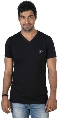 Jockey Radio Jockey Solid Men's V-Neck T-Shirt (Black)