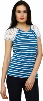 Rena Love Marine Striped Women's Round Neck T-Shirt