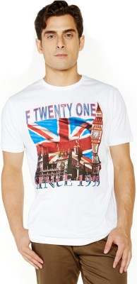 Globus Printed Men's Round Neck T-Shirt