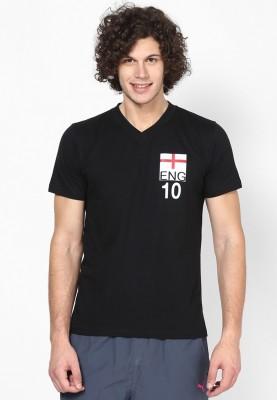 Blotch Printed Men's V-neck T-Shirt