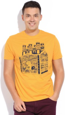 Wrangler Wrangler Printed Men's Round Neck T-Shirt (Yellow)