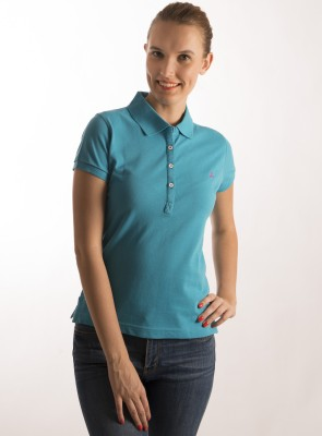 Bombay High Solid Women,s Polo T-Shirt