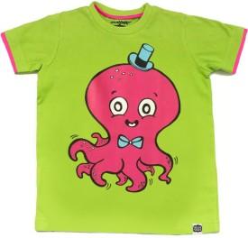 Alicia Souza Animal Print Boy's Round Neck Reversible T-Shirt