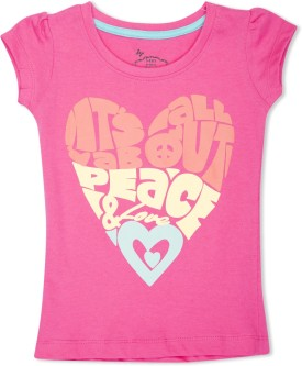 MAX Graphic Print Girl's Round Neck T-Shirt - TSHE4CERTZTKAQSZ