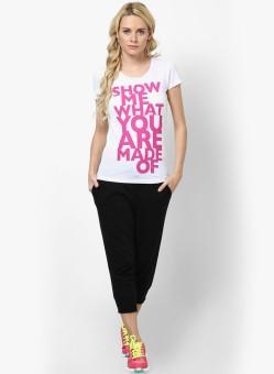 Only Graphic Print Women's Round Neck White T-Shirt - TSHEFF5NAP5SAXJT