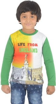 Sparkk Printed Boy's Round Neck Multicolor T-Shirt