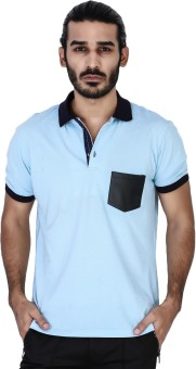 Mr Button Solid Men's Polo Neck T-Shirt