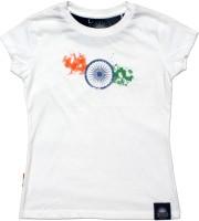 Tricolor Nation Graphic Print Women's Round Neck T-Shirt - TSHDZKAGRNU4JJGT