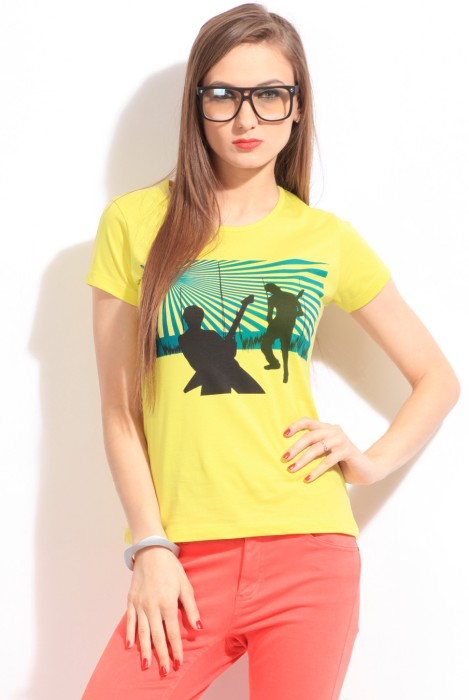 Style Quotient By Noi Printed Women's Round Neck T-Shirt - TSHDTH83QPPEEMF5