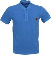 Roar and Growl Solid Men's Henley T-Shirt