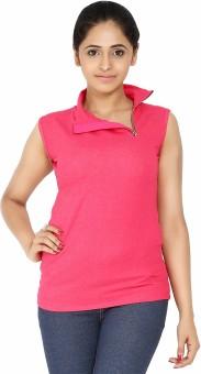 Softwear Solid Women's Fashion Neck Denim T-Shirt