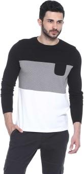 Basics Printed Men's Round Neck Black T-Shirt
