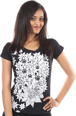 Cottons By Century Printed Women's Round Neck T-Shirt