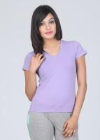 VIP Feelings Solid Women's V-neck T-Shirt