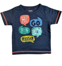 Pepito Printed Baby Boy's, Baby Girl's Round Neck Blue T-Shirt
