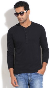 Freecultr Solid Men's Henley T-Shirt