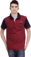 C.Vox Solid Men's Polo Neck T-Shirt