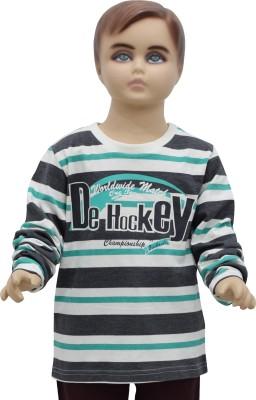 Urban Forest Striped Boy's Round Neck T-Shirt
