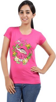 Be Style Printed Women's Round Neck T-Shirt - TSHE2U83E7R6FNUG