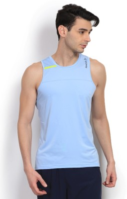 Reebok Solid Men's Round Neck T-Shirt