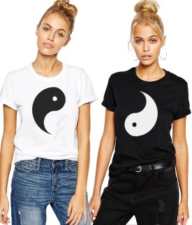Young Trendz Printed Women's Round Neck T-Shirt Pack Of 2 - TSHEGRMGSKGSTFGU
