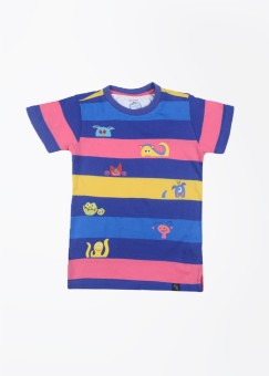 Nauti Nati Striped Boy's Round Neck T-Shirt
