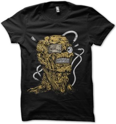 Abuse Graphic Print Men's Round Neck T-Shirt