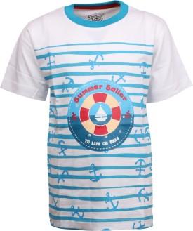 Joshua Tree Printed Boy's Round Neck White T-Shirt