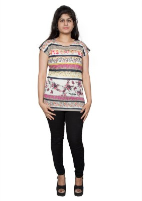Tryonce Polka Print Women's Round Neck T-Shirt