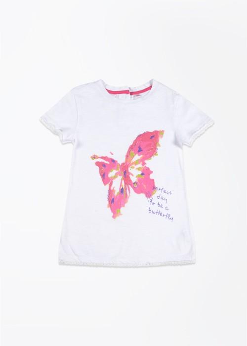Nauti Nati Printed Girl's Round Neck T-Shirt - TSHDSYJRZXH8HPRQ