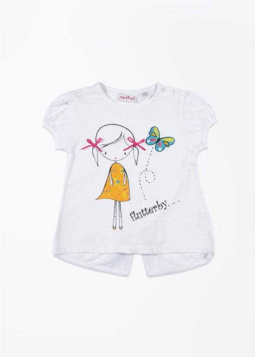 Nauti Nati Printed Girl's Round Neck T-Shirt - TSHDSYJRG9KZVGMM