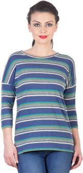 Hypernation Super 123 Striped Women's Round Neck T-Shirt