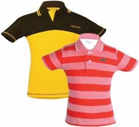 Gkidz Solid Boy's Polo Multicolor T-Shirt