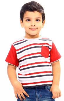 Bio Kid Striped Boy's Round Neck T-Shirt