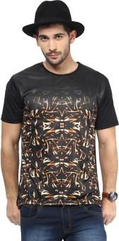 Yepme Printed Men's Round Neck Black T-Shirt