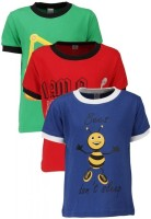 Gkidz Printed Boy's Round Neck T-Shirt - Pack Of 3 - TSHDZNG3JUCZVWUZ