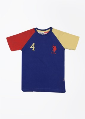 US Polo Solid Boy's Round Neck T-Shirt