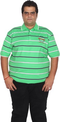 Xmex Striped Men's Polo Neck T-Shirt
