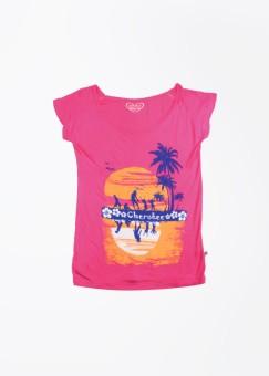 Cherokee Kids Printed Girl's Round Neck T-Shirt