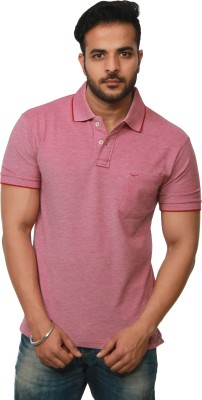 Amstead Solid Men's Polo Neck T-Shirt