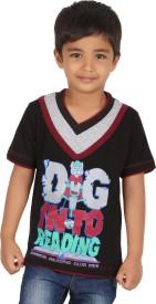 Meril Printed Baby Boy's Round Neck Purple T-Shirt